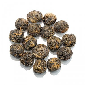 Organic Black Dragon Pearls Tea - Yunnan Dian Hong Tea
